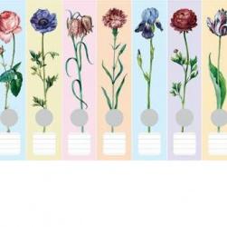 Ordner etiketten bloemen pastel