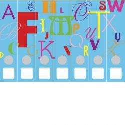 Ordneretiketten alfabet