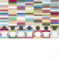Ordneretiketten kleur facetten