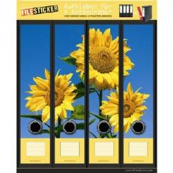 FileSticker ordnerruggen zonnebloemen