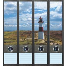 File Art ordneretiketten - Vuurtoren aan de kust