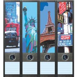 File Art ordneretiketten - Wereldsteden
