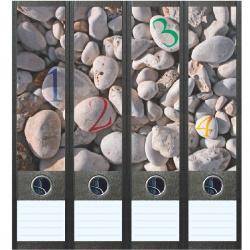 File Art ordneretiketten - Kiezelstenen