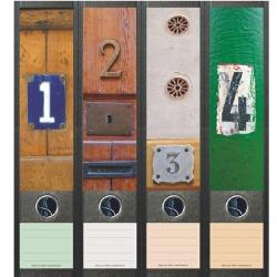 File Art ordneretiketten - Huisnummers