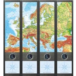 File Art ordneretiketten - Kaart van Europa
