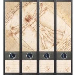 File Art ordneretiketten - Leonardo Da Vinci