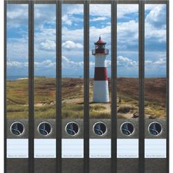 File Art ordneretiketten - Vuurtoren aan de kust 6 etiketten