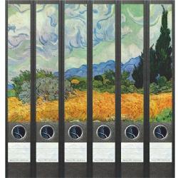 File Art ordneretiketten - Vincent van Gogh 6 etiketten