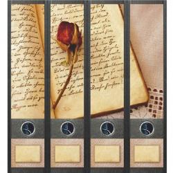 File Art ordneretiketten - Boek en Roos