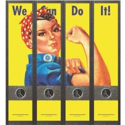 File Art ordneretiketten - Sterke vrouw