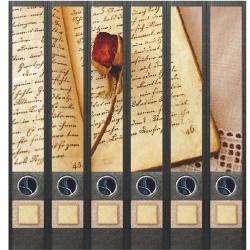 File Art ordneretiketten - Boek en Roos 6 etiketten