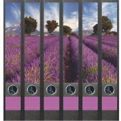 File Art ordneretiketten - Lavendelveld 6 etiketten
